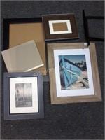 Lot of 4 Asstd Broken Frames and Frame Glass