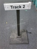 "Light Up ""Track 2"" Railroad Sign 28""H - Working"
