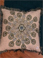 """Lot of 2 Decorative Pillow 22""""sq and Throw Blanket"""