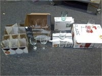 Lot of 25 Asstd Glassware - Wine, Rock, 10oz, Etc
