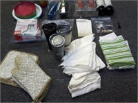 Lot of Asstd Trays, Plastic Ware, Insulated Cups..