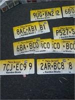 Lot of 28 Asstd Prop Plastic License Plates