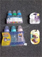 Lot of 4 Asstd Baby Items - Bottles and Pacifiers