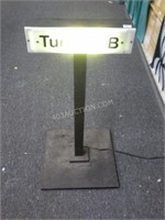 "Light Up ""Turnout B"" Railroad Sign 28""H - Working"