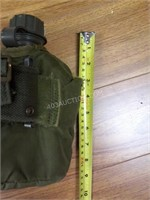 Army Flask in Pouch with Belt