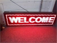 """Ever Rise Hanging """" Welcome, We Are Open""""LED Sign"""