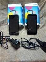 Lot of 2 Alcatel Pixi 4 Smart Phone - AS/IS
