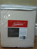 NEW Sunbeam Flannel Blanket - Double MSRP $19