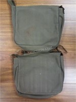 Lot of 2 Canvas Army Tote Bags -Made to look