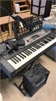 Yamaha Key Board. 2 Stands. Hartke Speaker.
