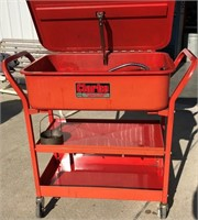 Clarke 20-gallon mobile parts washer