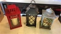 3 Candle Lanterns