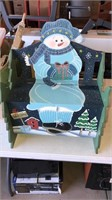 Snowman Bench.  Back is Loose