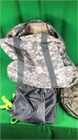Lg. Camo Backpack/ Duffle Bag, 2- Saddle Style