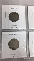 "Victory ""V"" Nickels 1894-1911"