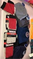 8 New Adult/Kids Knit Hats & 3 Pair of Socks