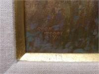 """Framed Robb Woods """"Love My Kitty"""" Oil on Canvas"""