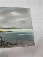 Signed Richard Brough jamaica 2 sided watercolor