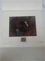 "Signed Bill Sanders ""emit gobbler"" with stamp"