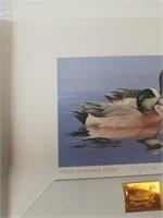 Signed William C. Morris ducks in the pond