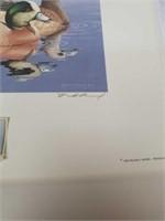 Signed William C Morris 1984 duck print with stamp