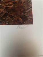 """Signed Bill Sanders """"emit gobbler"""" with stamp"""