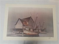 "Signed M. Lenoir ""After the Days Catch"" 356/2000"