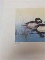 Signed William C. Morris Ducks in the pond 67/1500