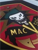 MAC V SOG emblem on cut board