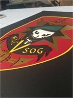 MAC V SOG emblem with cut board