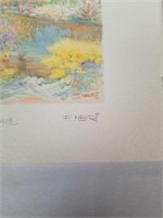 2 Signed watercolor prints by F. NERI.