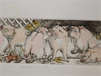 "Signed Enid Groves ""Bacon Bits II"" Print #13/350"