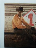 Signed James Bama Cowboy Print #744/1000
