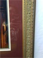 Gold Gilded Framed Print of Wedding Ceremony