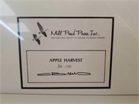"""Signed Carl Brenders """"Apple Harvest"""" Print"""