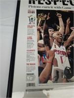 Newspaper copy of the 2004 NBA Champions