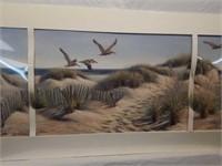 Signed 3 pc Mary Erickson Beach Scene Print