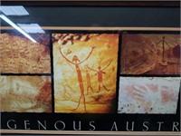 Framed Indigenous Australia Rock Art