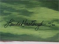 "Signed Linda Hartough ""Firethron"" Oil on Canvas"