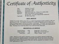 "Signed Greg Olsen ""Denim to Lace"" Numbered Print"