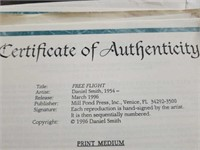 "Signed Daniel Smith ""Free Flight"" Print #257/950"
