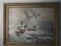 Beautiful Framed Larry Fanning Geese Print #82/180