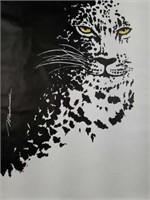 Large MacDonald Leopard Print on Canvas