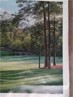 "Signed Linda Hartough""Golden Bell""Print on Canvas"