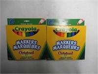 (2) Crayola Original Broad Line Markers