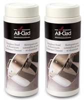 (2) All-Clad S/S & Aluminum Cookware Cleaner 12 Oz