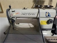 Artisan commercial sewing machine and table