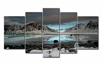 5 Piece Wall Art Painting Seagull Flying Over