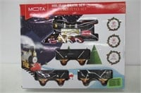 """As Is"" MOTA Classic Holiday Train Set with Real"