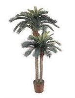 Nearly Natural 5033 Sago Palm Double Potted Silk